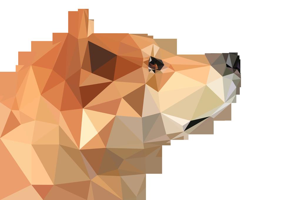 ポリゴン犬 完成